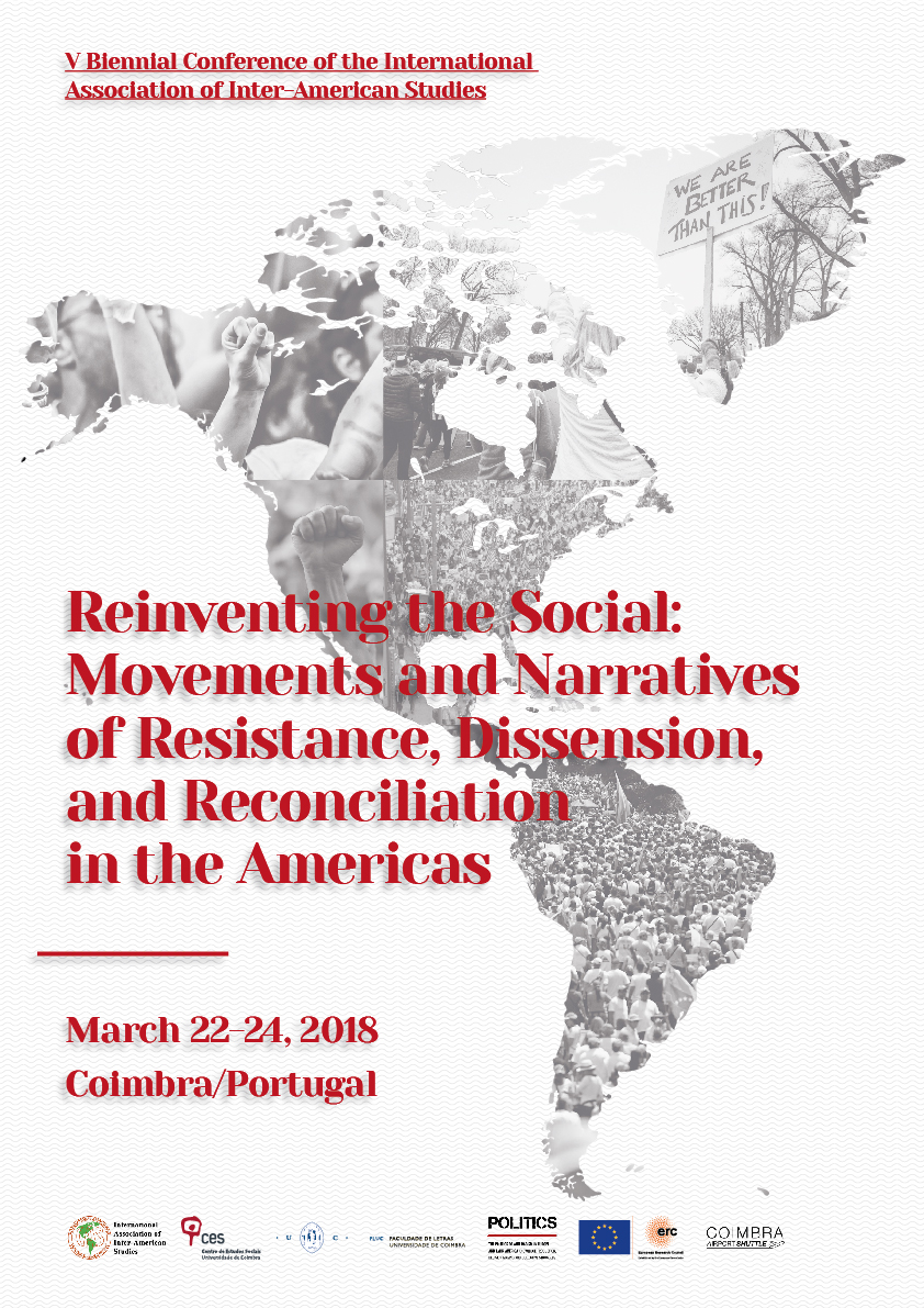 "Reinventing The Social: Movements and Narratives of Resistance, Dissension, and Reconciliation in the Americas<span id=""edit_16167""><script>$(function() { $('#edit_16167').load( ""/myces/user/editobj.php?tipo=evento&id=16167"" ); });</script></span>"