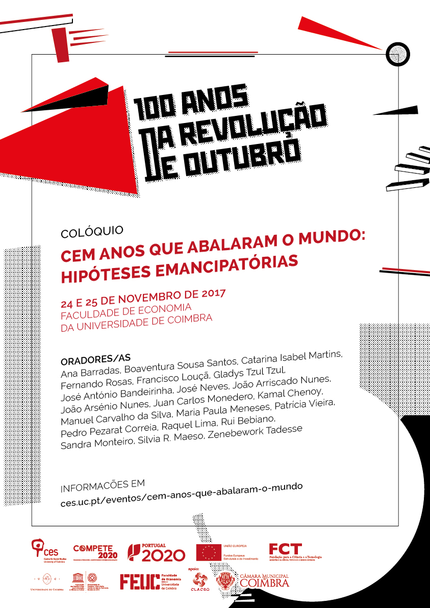 """One hundred years that shook the World: emancipatory hypotheses<span id=""""edit_17769""""><script>$(function() { $('#edit_17769').load( """"/myces/user/editobj.php?tipo=evento&id=17769"""" ); });</script></span>"""