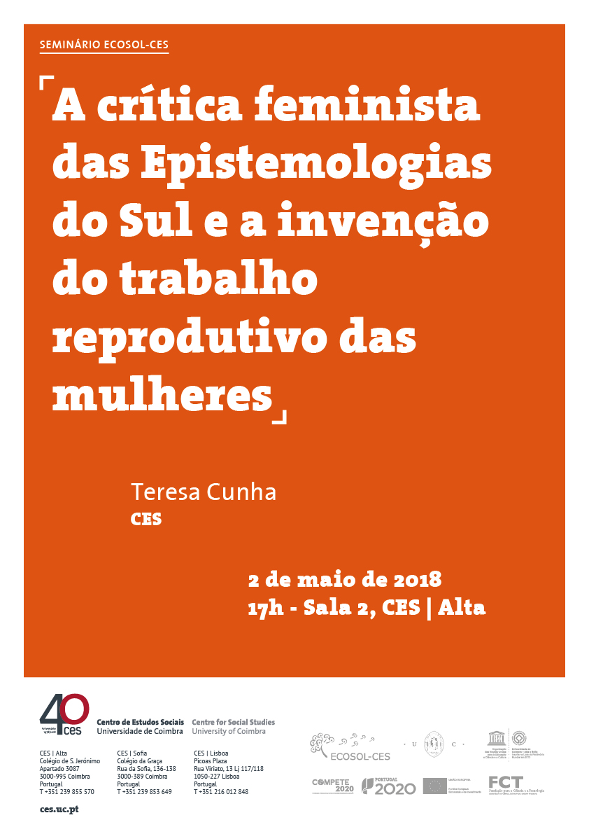 """The Feminist Critique of Epistemologies of the South and the Invention of Women's Reproductive Work<span id=""""edit_18520""""><script>$(function() { $('#edit_18520').load( """"/myces/user/editobj.php?tipo=evento&id=18520"""" ); });</script></span>"""