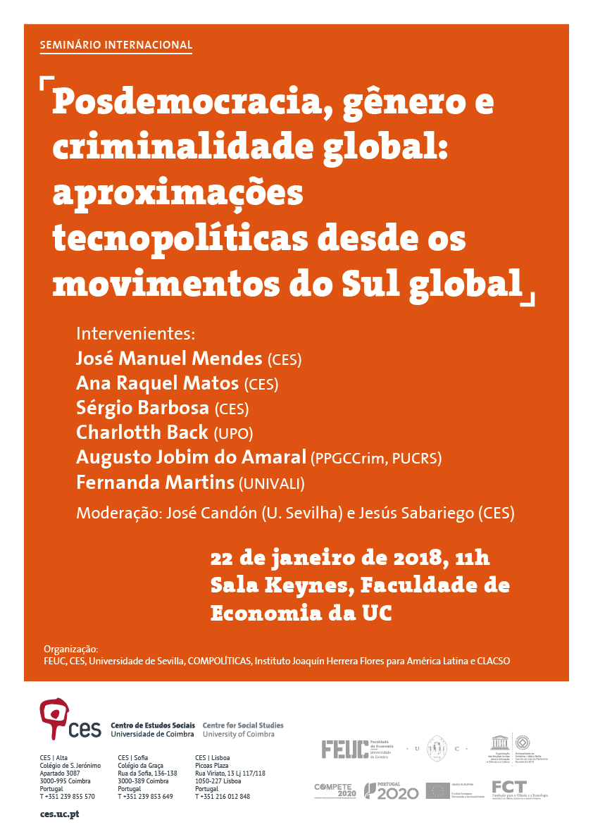 """Post-democracy, gender and global crime: techno-political approaches from movements of the global South<span id=""""edit_18866""""><script>$(function() { $('#edit_18866').load( """"/myces/user/editobj.php?tipo=evento&id=18866"""" ); });</script></span>"""