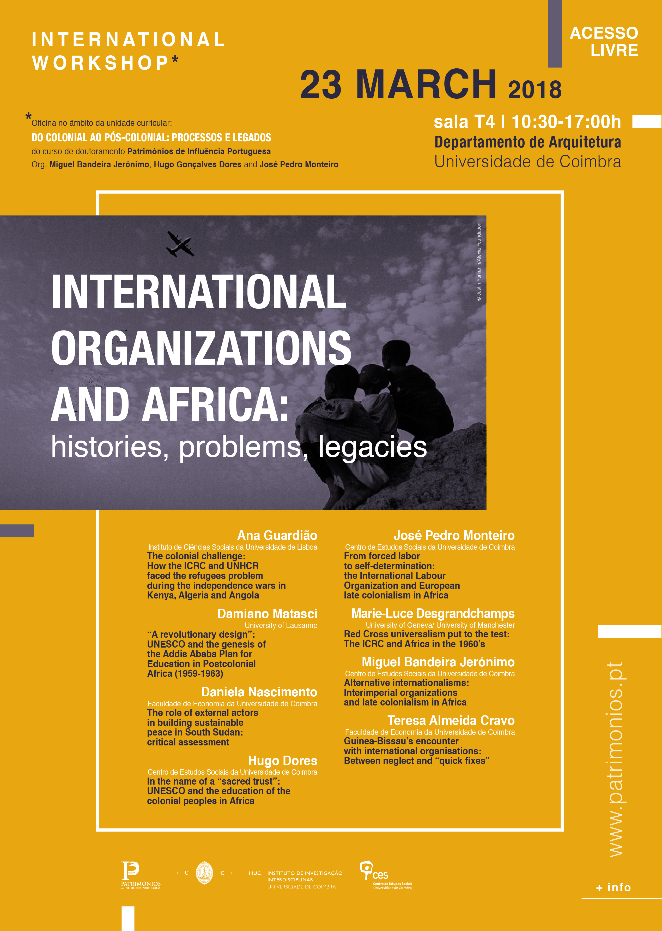 "International Organizations and Africa: histories and problems<span id=""edit_19368""><script>$(function() { $('#edit_19368').load( ""/myces/user/editobj.php?tipo=evento&id=19368"" ); });</script></span>"