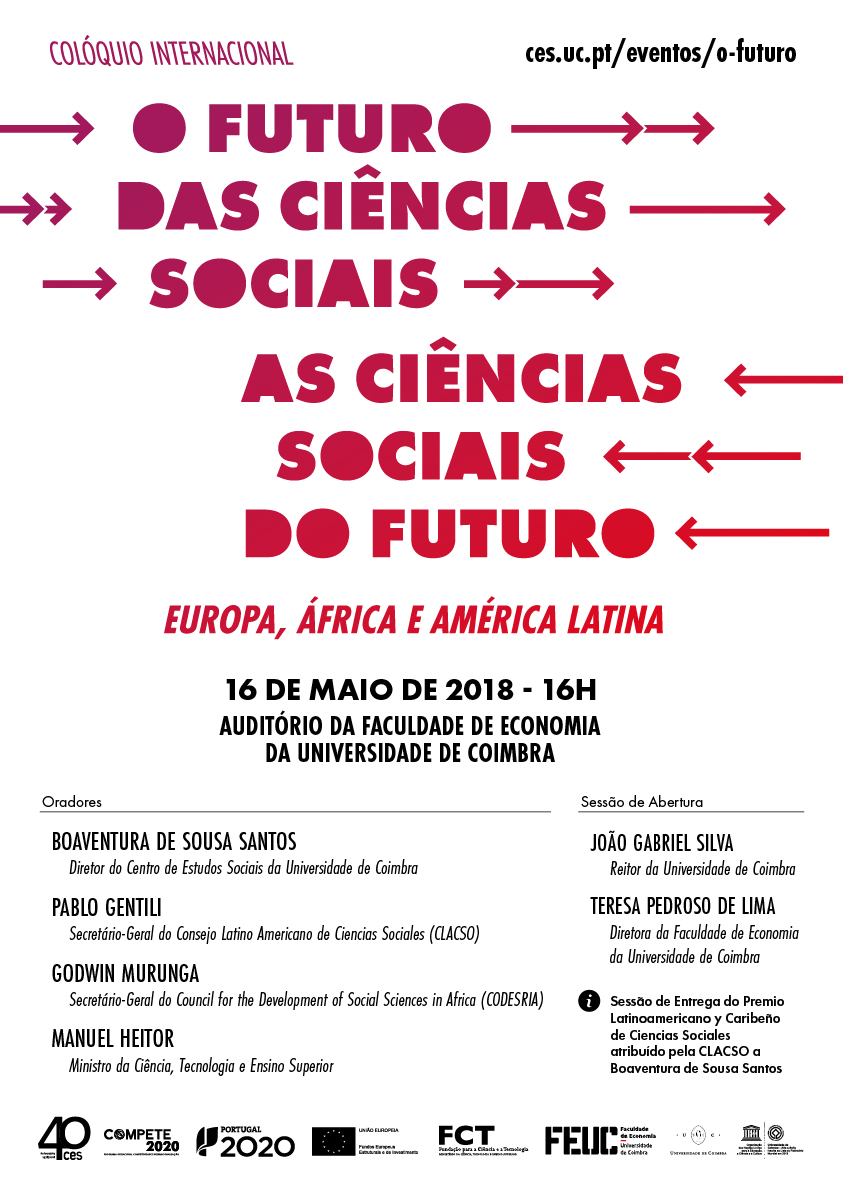 """The future of Social Sciences / The Social Sciences of the future - Europe, Africa and Latin America<span id=""""edit_19378""""><script>$(function() { $('#edit_19378').load( """"/myces/user/editobj.php?tipo=evento&id=19378"""" ); });</script></span>"""