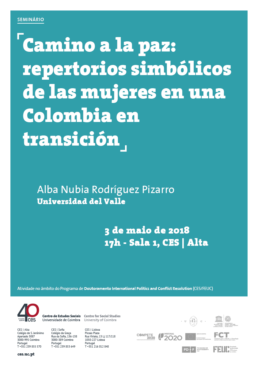 """Road to peace: symbolic repertoires of women in a transition Colombia<span id=""""edit_19621""""><script>$(function() { $('#edit_19621').load( """"/myces/user/editobj.php?tipo=evento&id=19621"""" ); });</script></span>"""