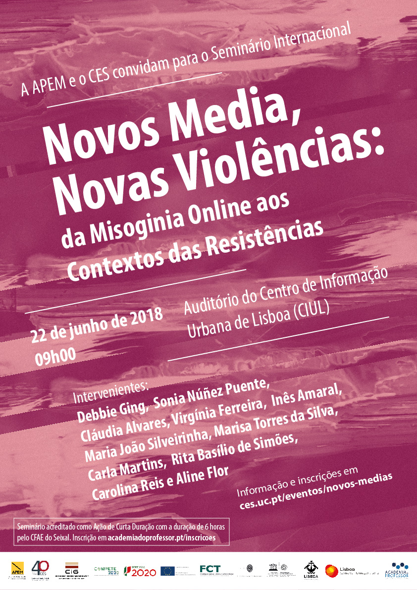 "New Media, New Violence: From Misoginia Online to the Contexts of Resistances<span id=""edit_19969""><script>$(function() { $('#edit_19969').load( ""/myces/user/editobj.php?tipo=evento&id=19969"" ); });</script></span>"