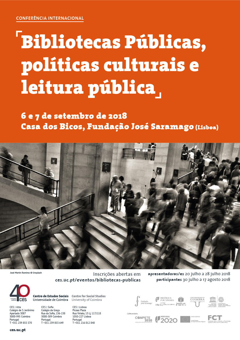 "Public Libraries, cultural politics and reading<span id=""edit_19999""><script>$(function() { $('#edit_19999').load( ""/myces/user/editobj.php?tipo=evento&id=19999"" ); });</script></span>"