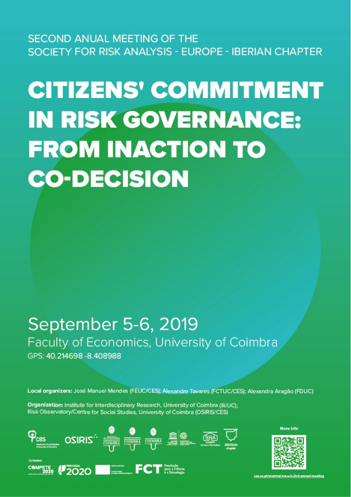 "Citizens' Commitment in Risk Governance: From Inaction to Co-Decision<span id=""edit_23641""><script>$(function() { $('#edit_23641').load( ""/myces/user/editobj.php?tipo=evento&id=23641"" ); });</script></span>"