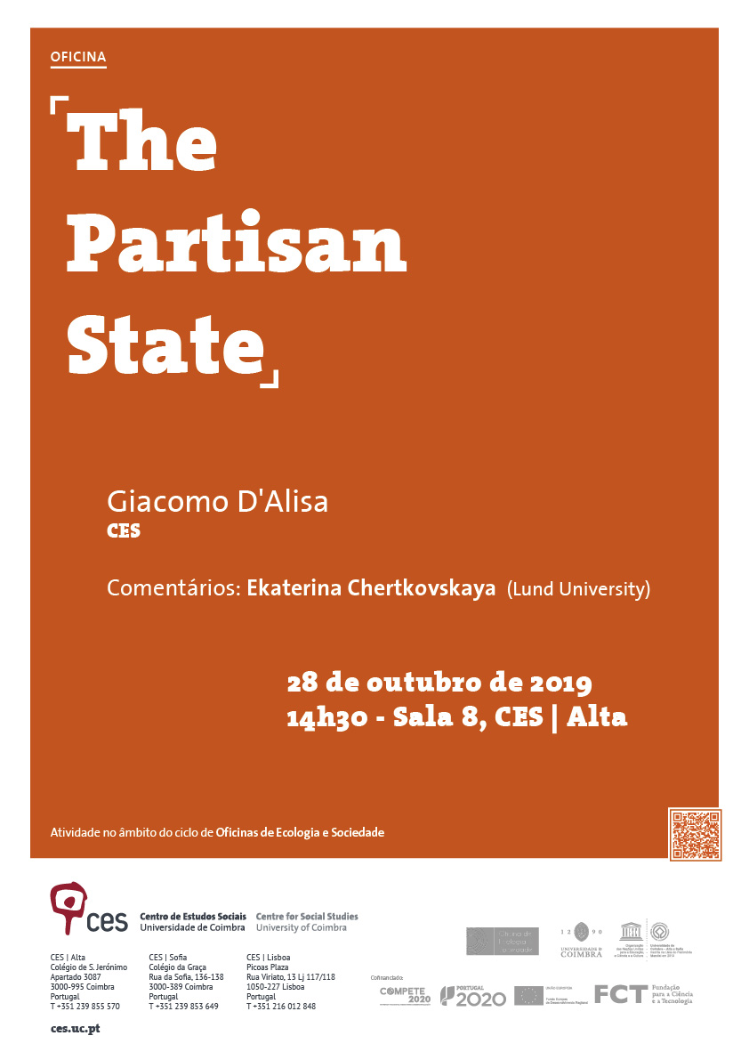 "The Partisan State<span id=""edit_26377""><script>$(function() { $('#edit_26377').load( ""/myces/user/editobj.php?tipo=evento&id=26377"" ); });</script></span>"