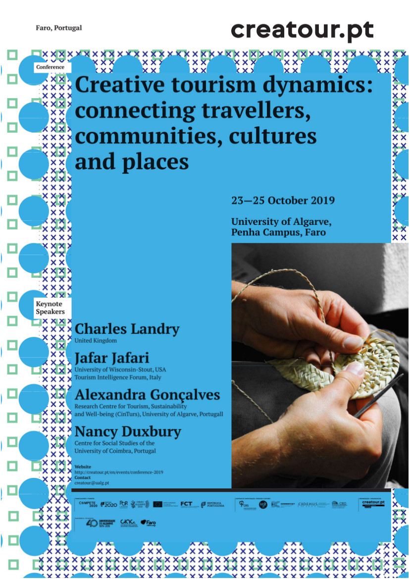 "Creative tourism dynamics: connecting travellers, communities, cultures and places<span id=""edit_26408""><script>$(function() { $('#edit_26408').load( ""/myces/user/editobj.php?tipo=evento&id=26408"" ); });</script></span>"