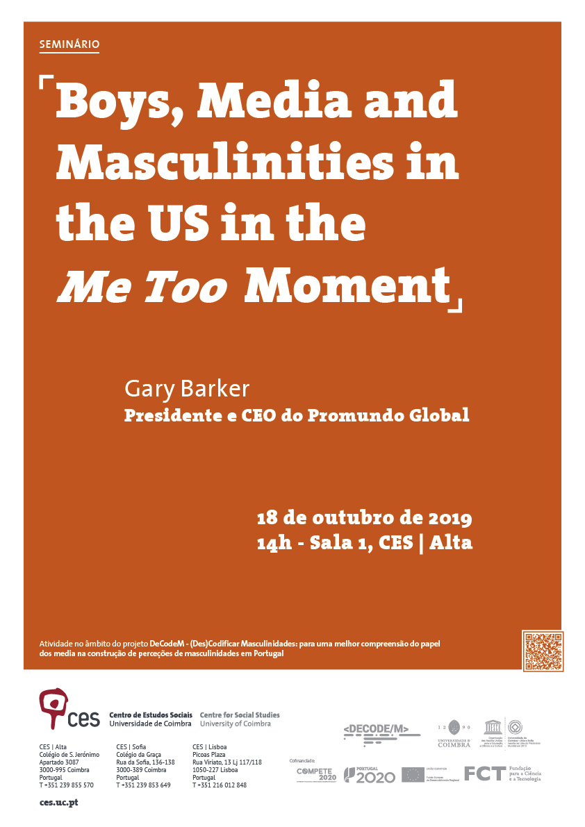 "Boys, Media and Masculinities in the US in the <em>Me Too</em> Moment<span id=""edit_26754""><script>$(function() { $('#edit_26754').load( ""/myces/user/editobj.php?tipo=evento&id=26754"" ); });</script></span>"