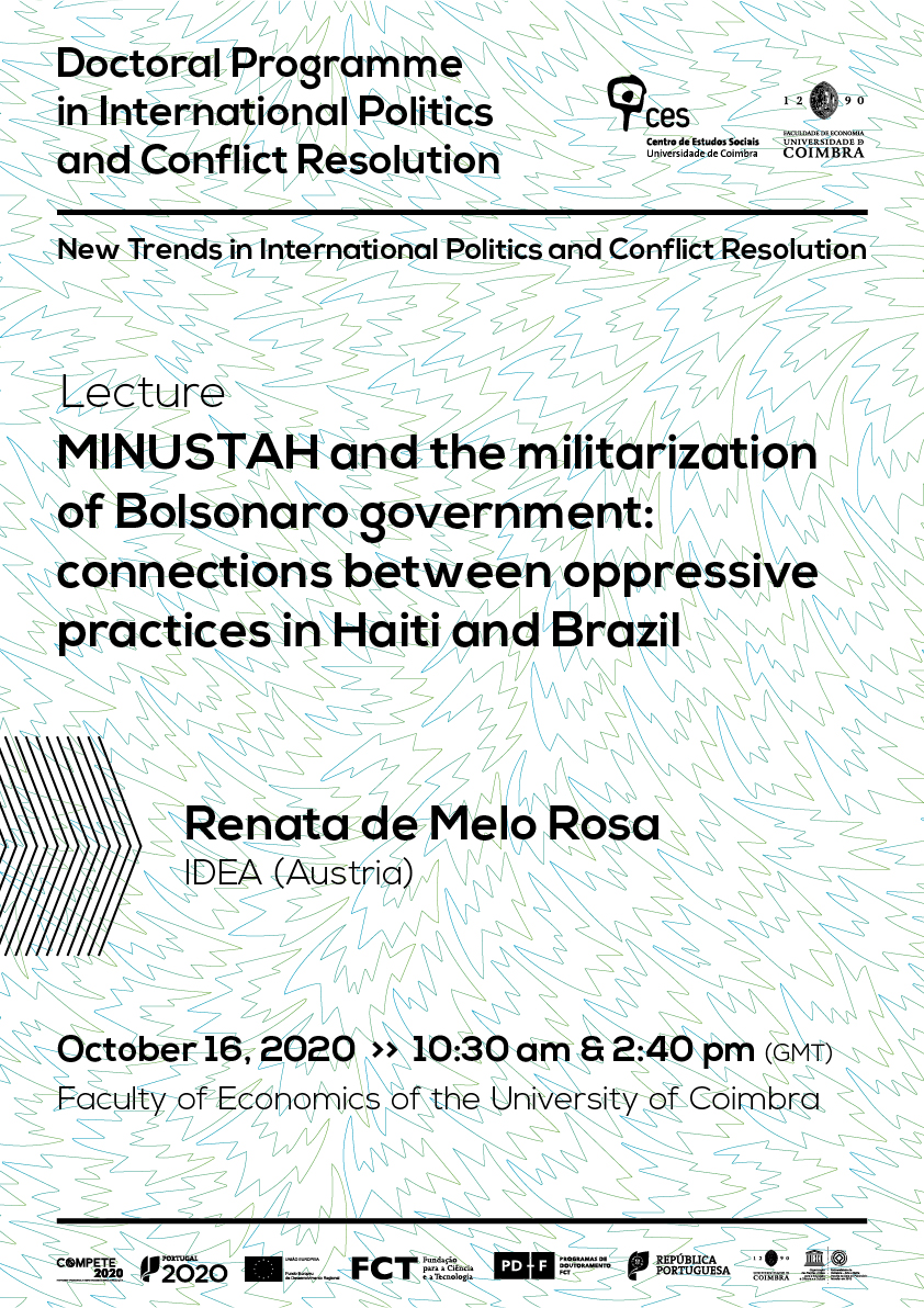 "MINUSTAH and the militarization of Bolsonaro government: connections between oppressive practices in Haiti and Brazil<span id=""edit_31440""><script>$(function() { $('#edit_31440').load( ""/myces/user/editobj.php?tipo=evento&id=31440"" ); });</script></span>"