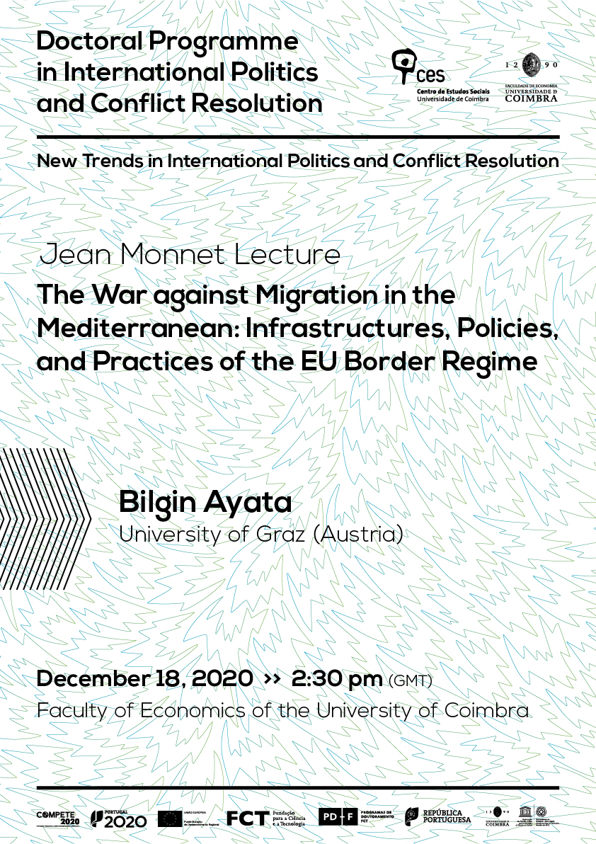 "The War against Migration in the Mediterranean: Infrastructures, Policies, and Practices of the EU Border Regime<span id=""edit_31452""><script>$(function() { $('#edit_31452').load( ""/myces/user/editobj.php?tipo=evento&id=31452"" ); });</script></span>"