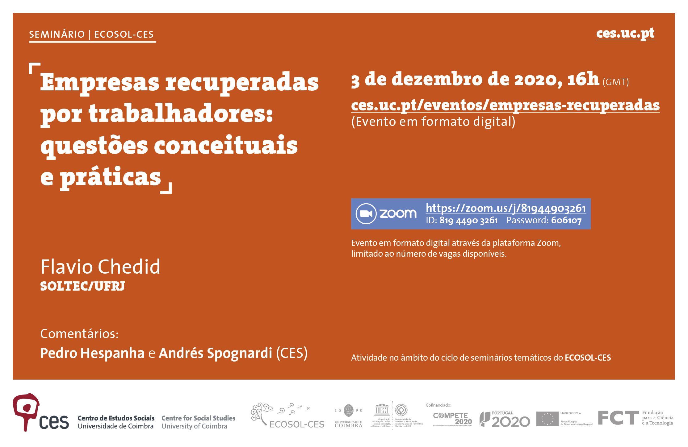 "Companies recovered by workers: conceptual and practical issues<span id=""edit_31474""><script>$(function() { $('#edit_31474').load( ""/myces/user/editobj.php?tipo=evento&id=31474"" ); });</script></span>"