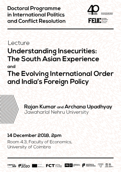 "Understanding Insecurities: The South Asian Experience / The Evolving International Order and India's Foreign Policy<span id=""edit_20794""><script>$(function() { $('#edit_20794').load( ""/myces/user/editobj.php?tipo=evento&id=20794"" ); });</script></span>"