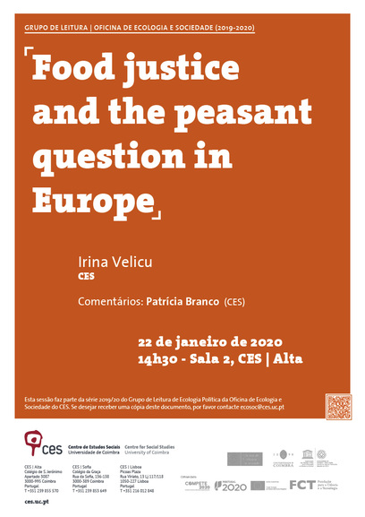 "Food justice and the peasant question in Europe<span id=""edit_26380""><script>$(function() { $('#edit_26380').load( ""/myces/user/editobj.php?tipo=evento&id=26380"" ); });</script></span>"