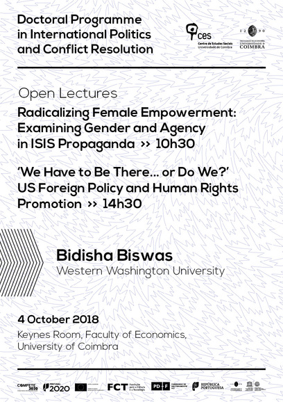 "Radicalizing Female Empowerment: Examining Gender and Agency in ISIS Propaganda / 'We Have to Be There... or Do We?' US Foreign Policy and Human Rights Promotion<span id=""edit_26521""><script>$(function() { $('#edit_26521').load( ""/myces/user/editobj.php?tipo=evento&id=26521"" ); });</script></span>"